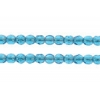 Fire polished 2mm Round Beads Transparent Dark Aqua